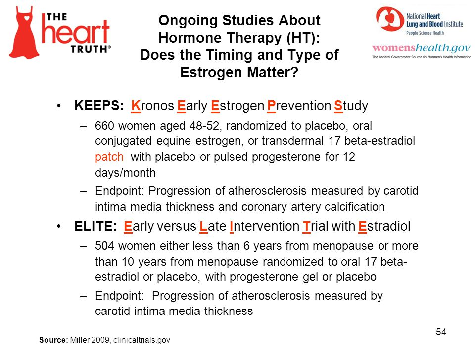 4/1/2017 Ongoing Studies About Hormone Therapy (HT): Does the Timing and Type of Estrogen Matter