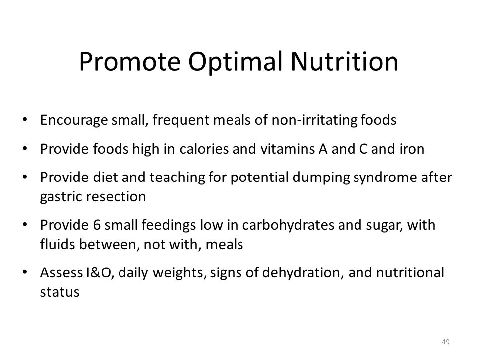 Promote Optimal Nutrition