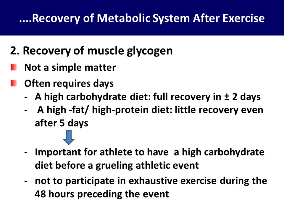 ....Recovery of Metabolic System After Exercise