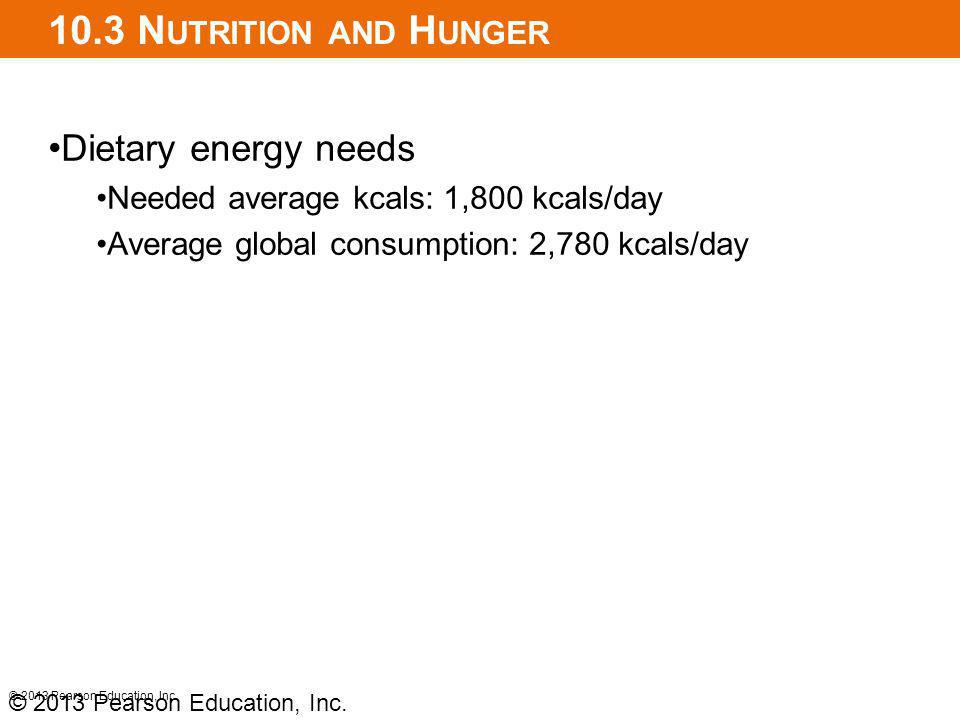 10.3 Nutrition and Hunger Dietary energy needs