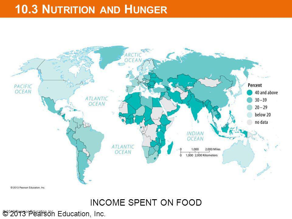 10.3 Nutrition and Hunger INCOME SPENT ON FOOD