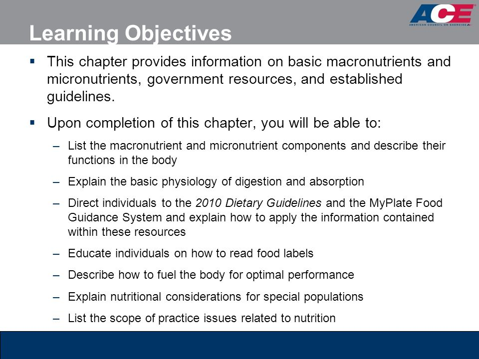 Learning Objectives This Chapter Provides Information On Basic