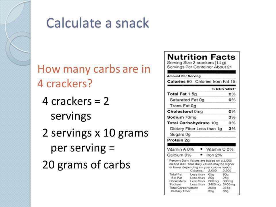 How many carbs are in 4 crackers