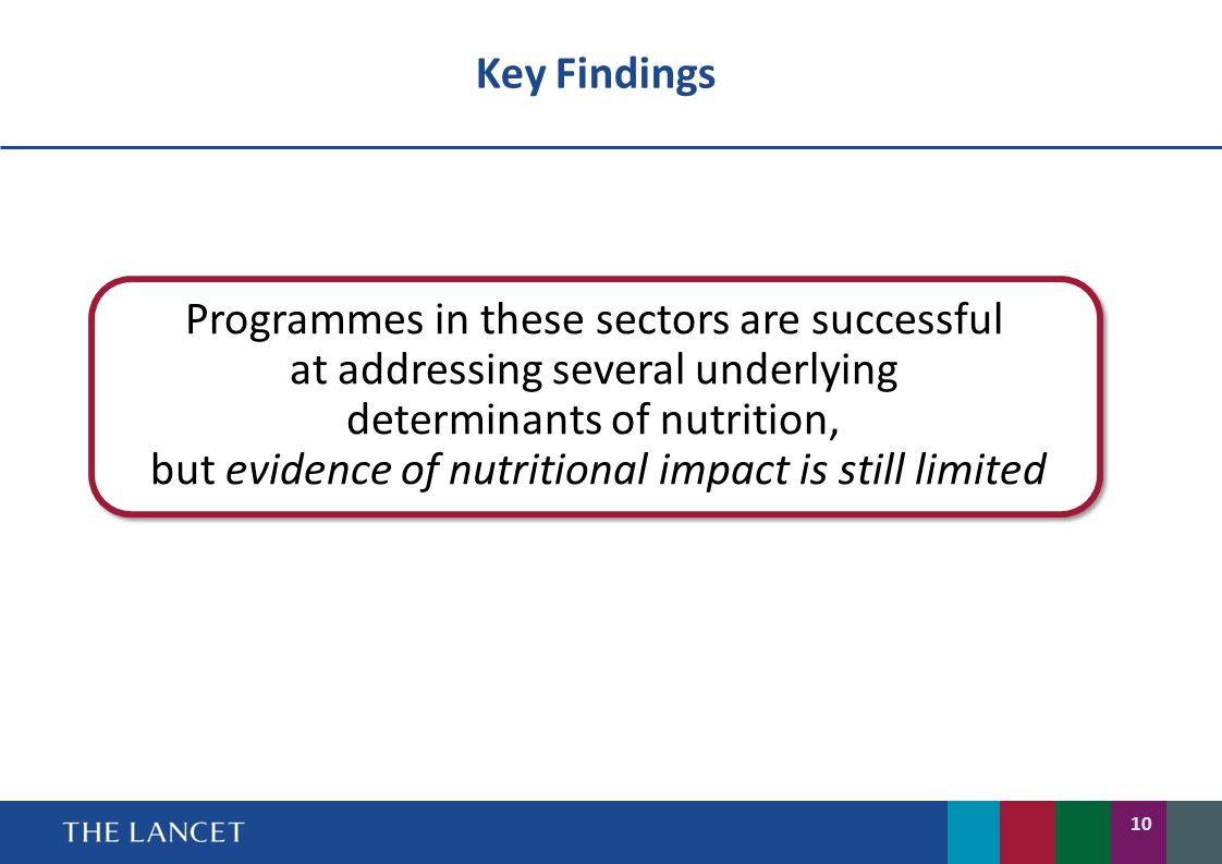 Programmes in these sectors are successful
