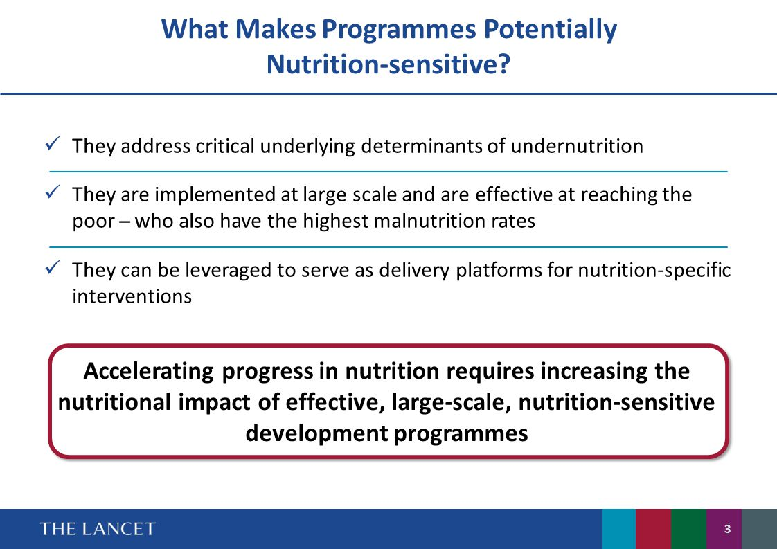 What Makes Programmes Potentially Nutrition-sensitive