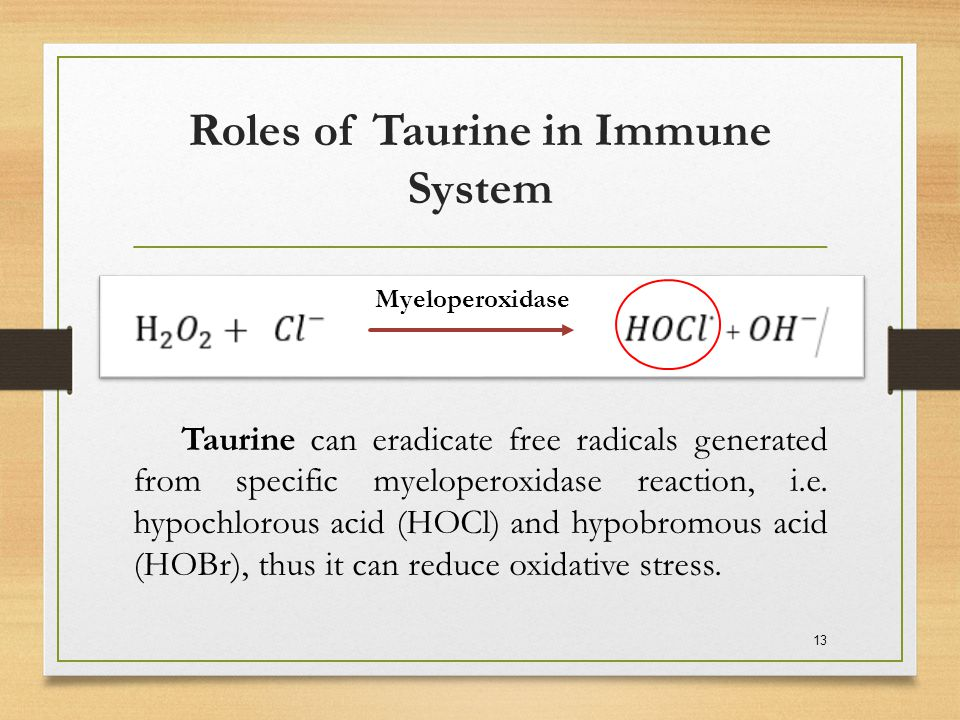 Roles of Taurine in Immune System
