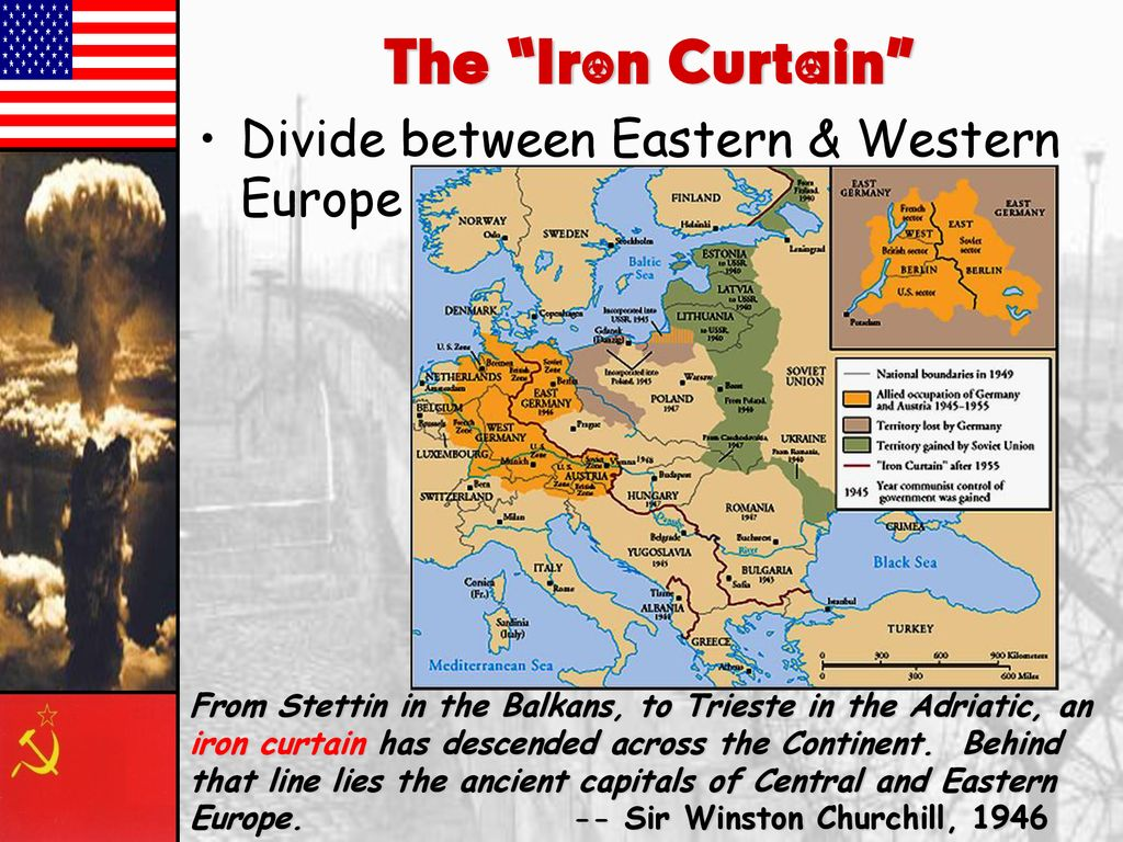 What Did The Iron Curtain Divide