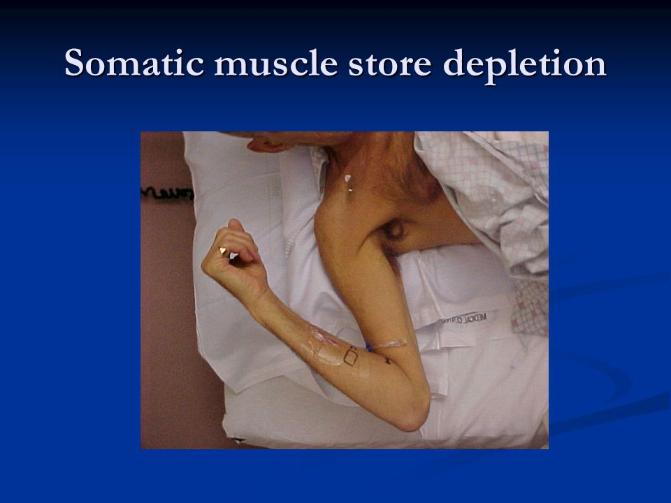 Somatic muscle store depletion