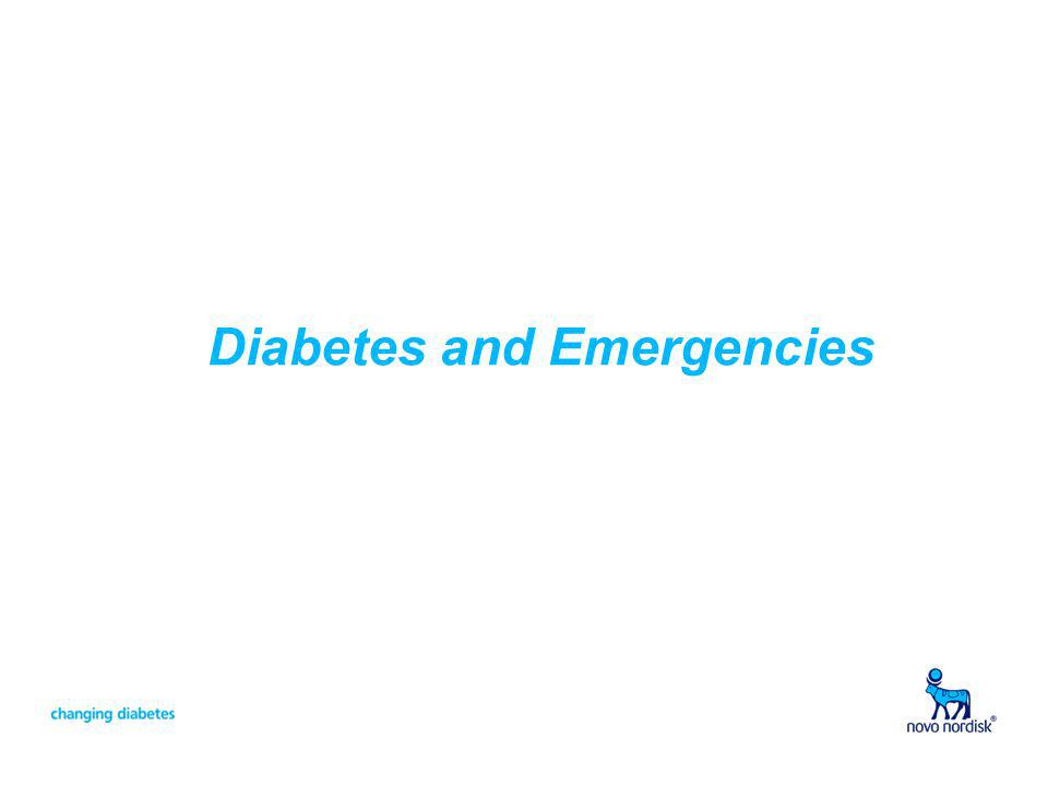 Diabetes and Emergencies