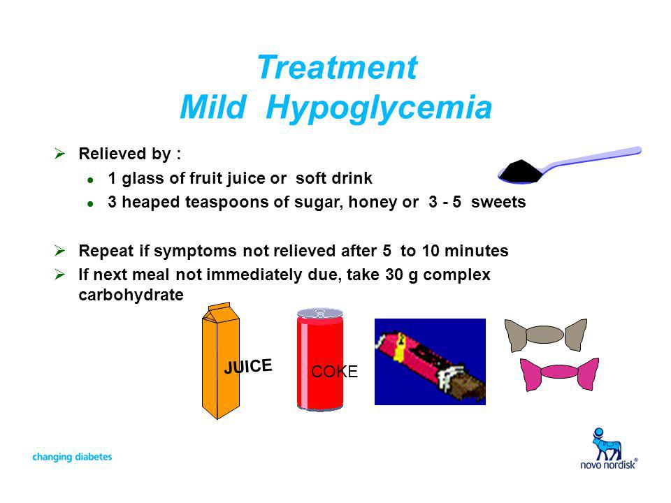 Treatment Mild Hypoglycemia