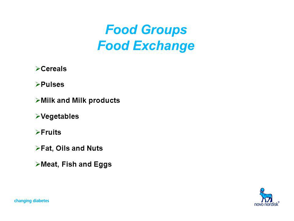 Food Groups Food Exchange