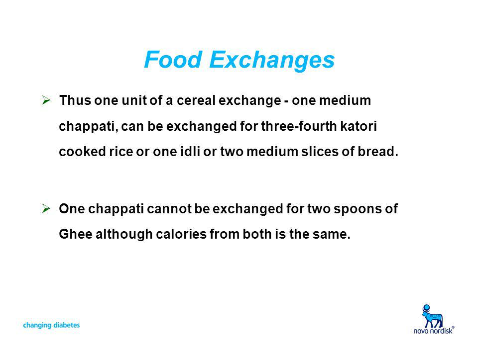 Food Exchanges