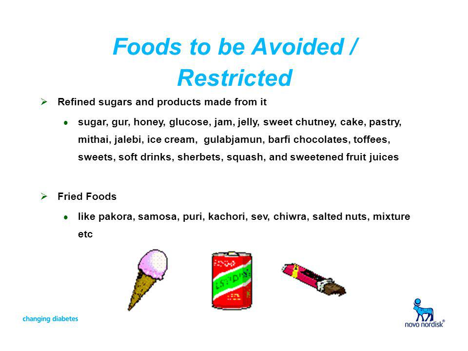Foods to be Avoided / Restricted