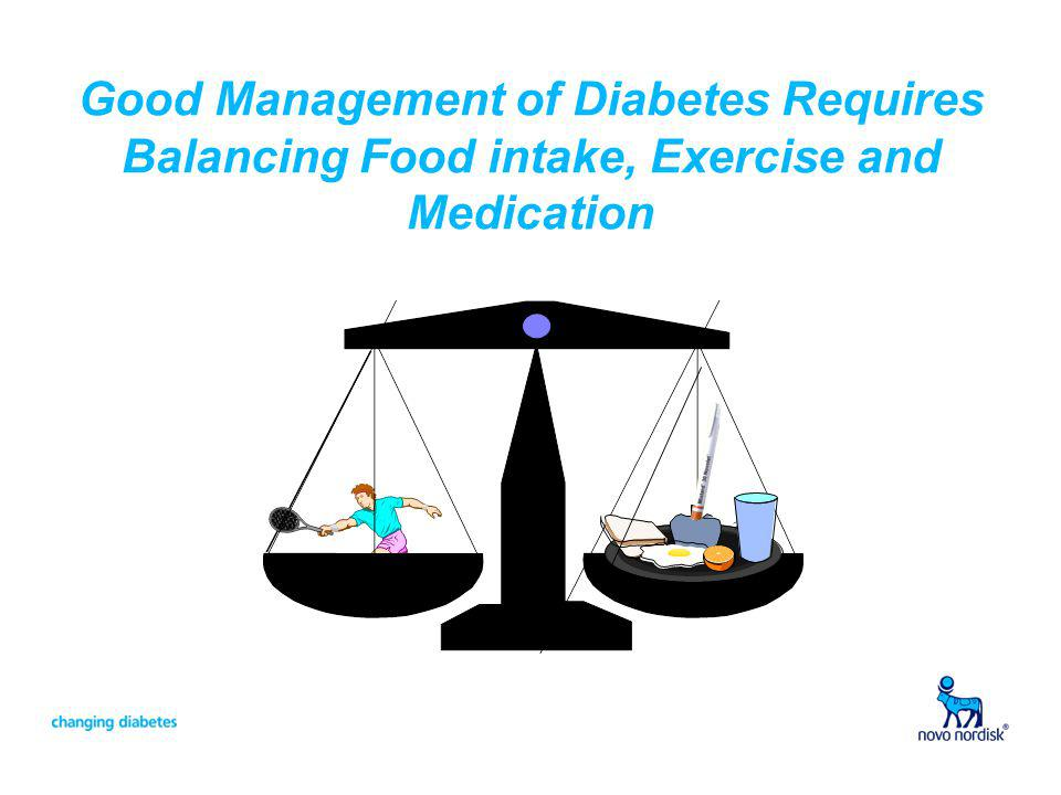 Good Management of Diabetes Requires Balancing Food intake, Exercise and Medication