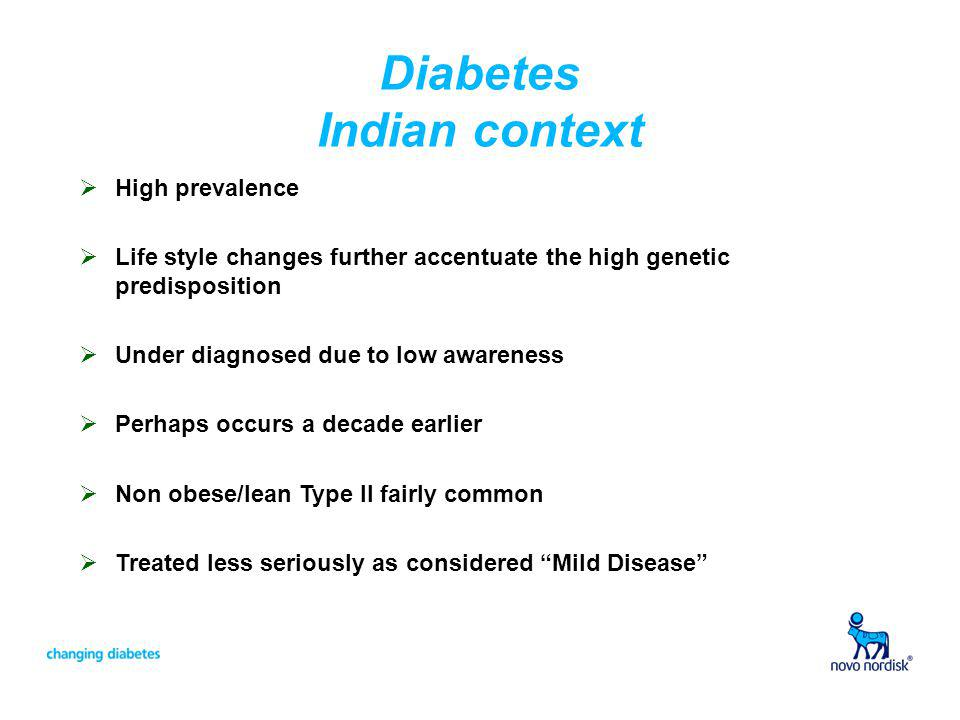Diabetes Indian context