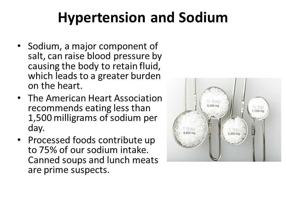 Hypertension and Sodium