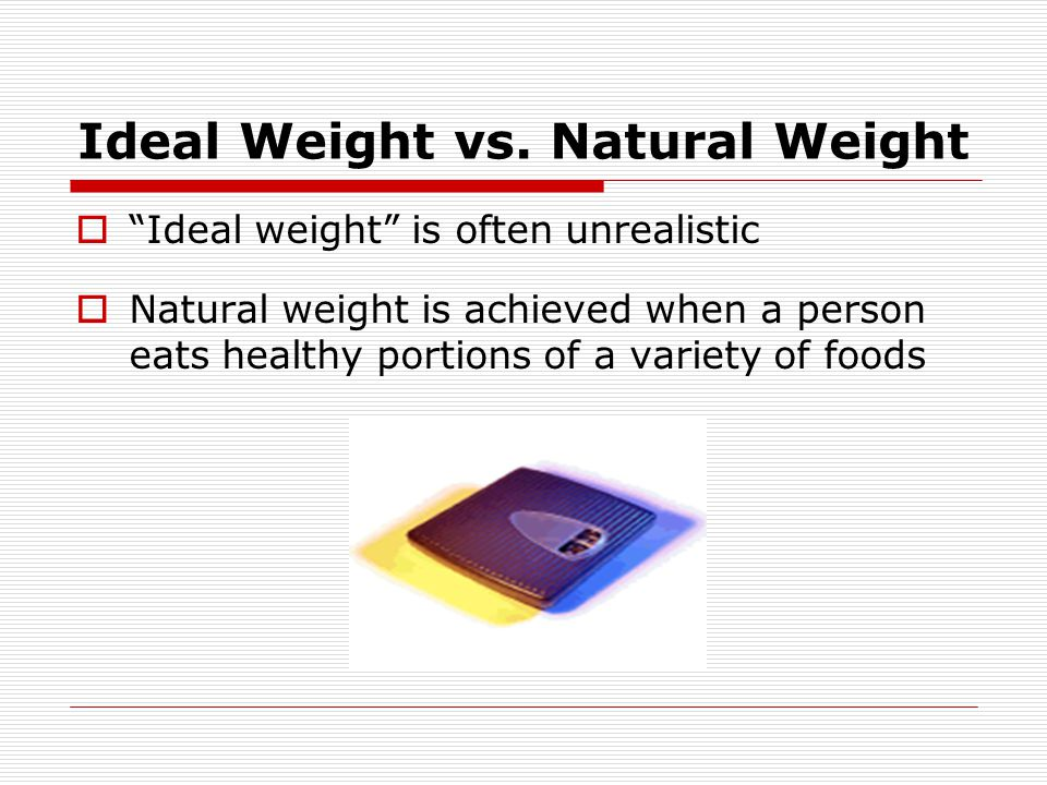 Ideal Weight vs. Natural Weight