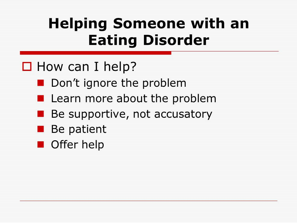 Helping Someone with an Eating Disorder