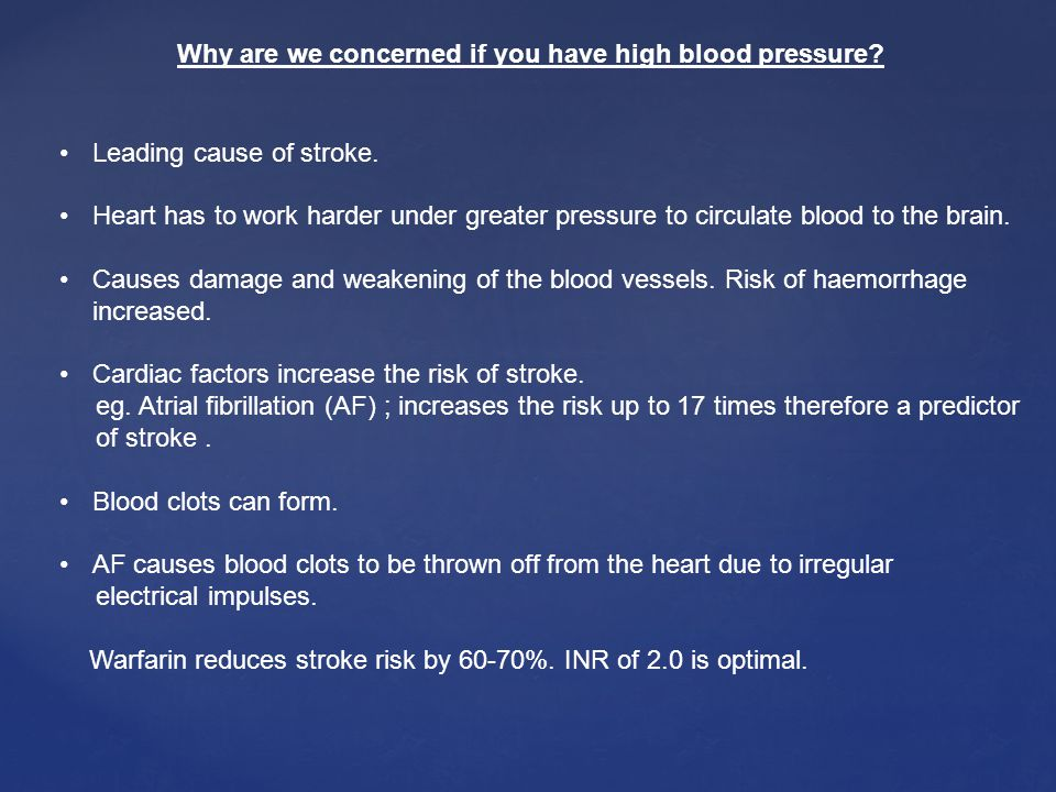 Why are we concerned if you have high blood pressure