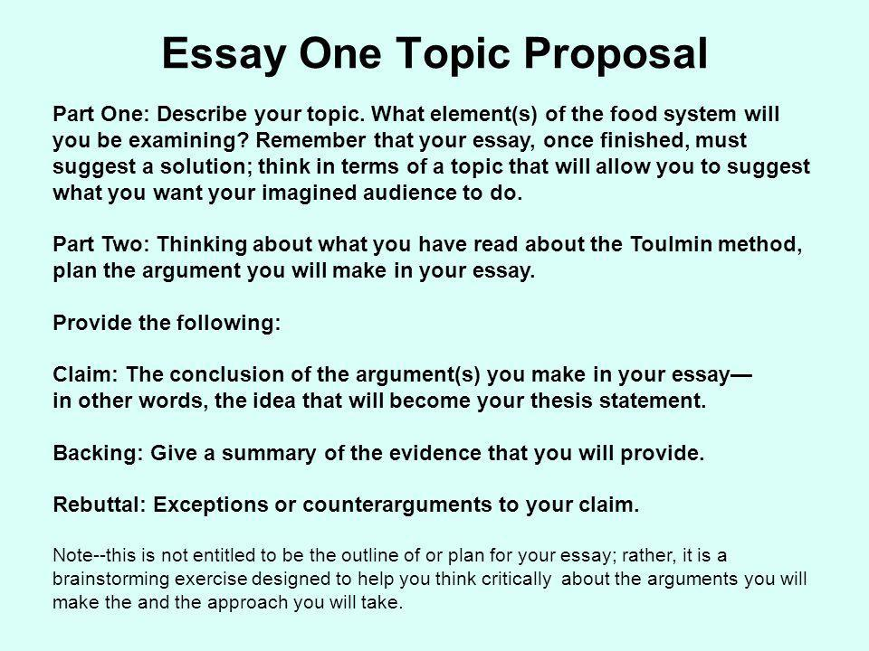 The toulmin method and essay one ppt download