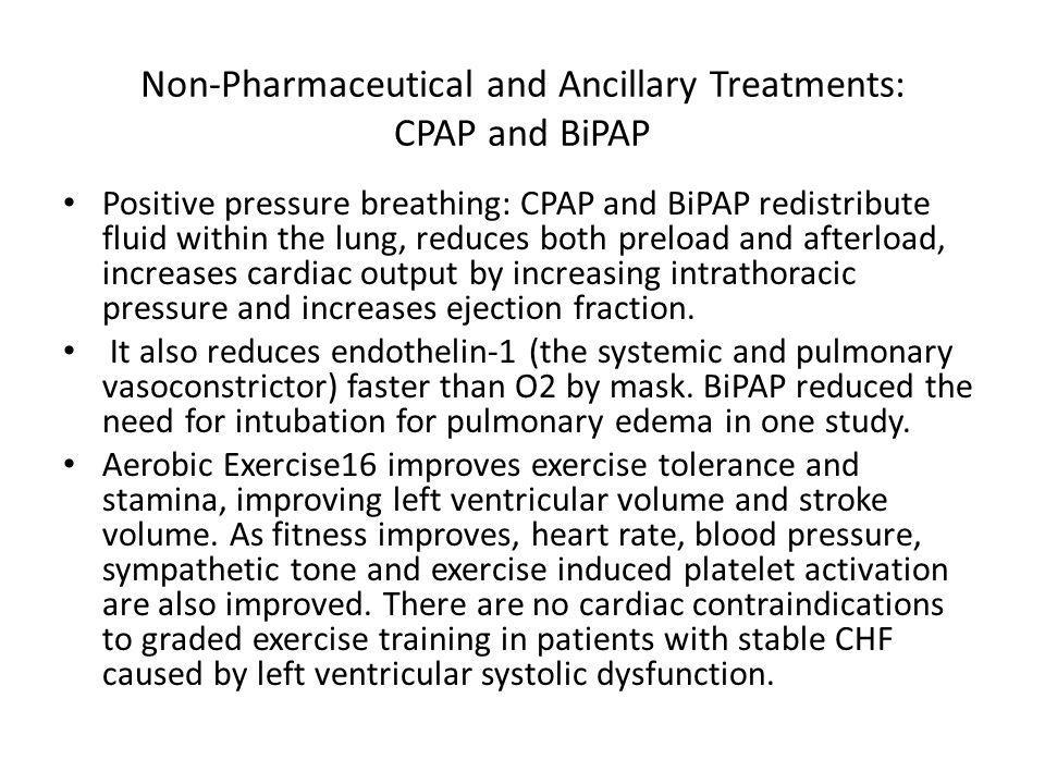 Non-Pharmaceutical and Ancillary Treatments: CPAP and BiPAP