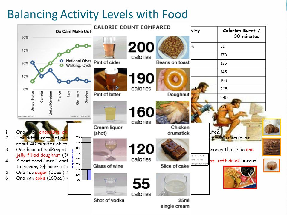 Balancing Activity Levels with Food