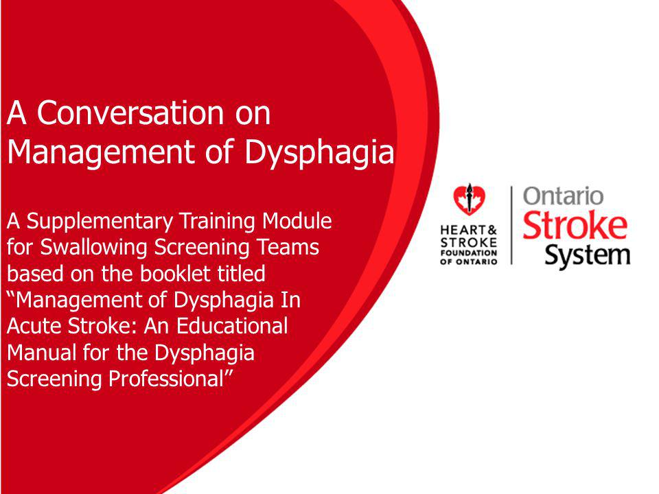 A Conversation on Management of Dysphagia