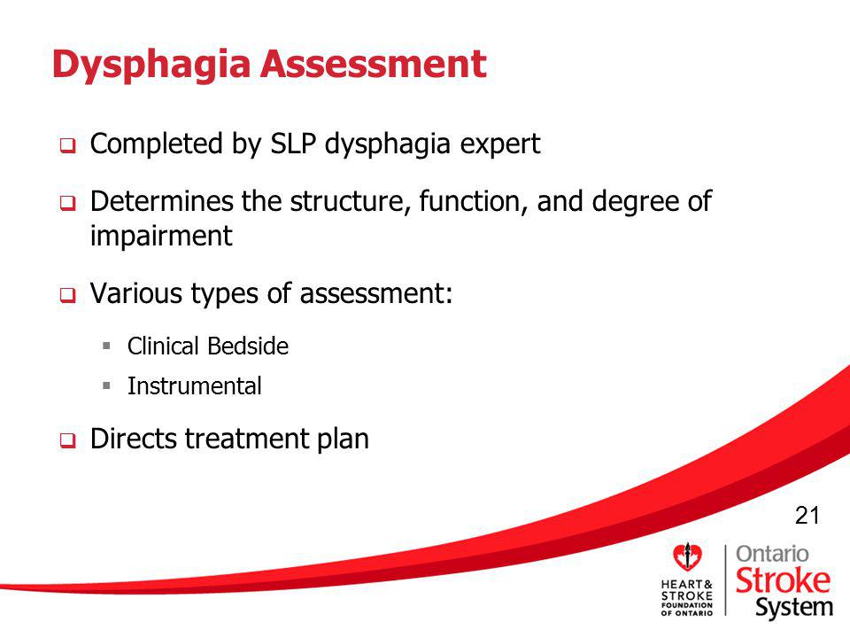Dysphagia Assessment Completed by SLP dysphagia expert