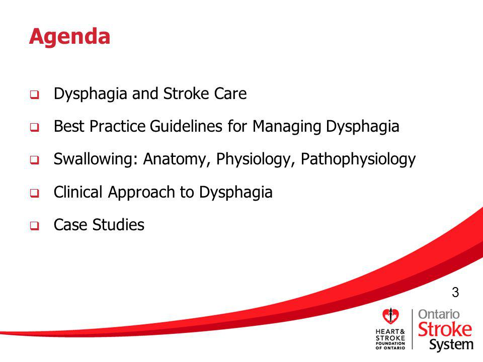 Agenda Dysphagia and Stroke Care