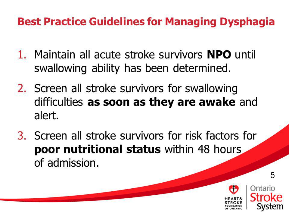 Best Practice Guidelines for Managing Dysphagia