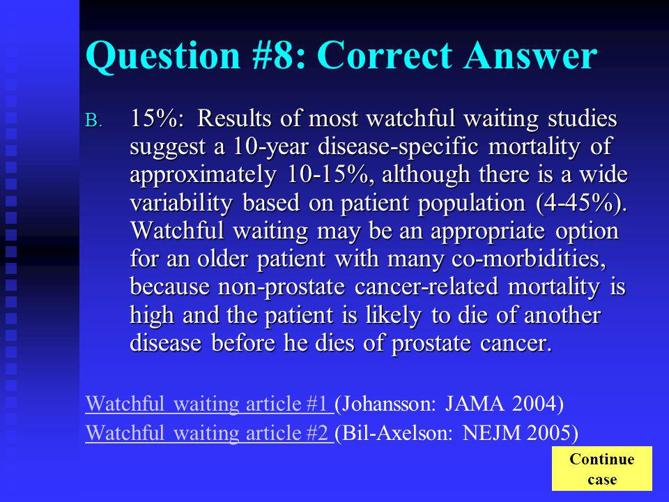 Question #8: Correct Answer