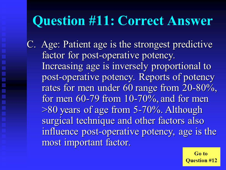 Question #11: Correct Answer