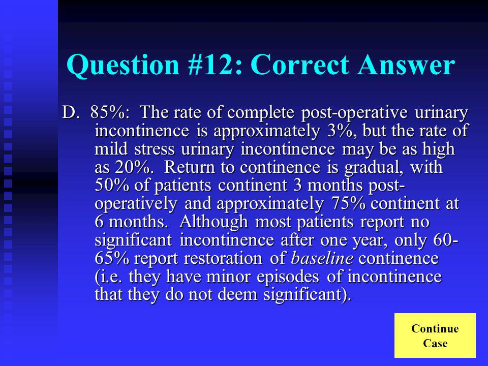Question #12: Correct Answer