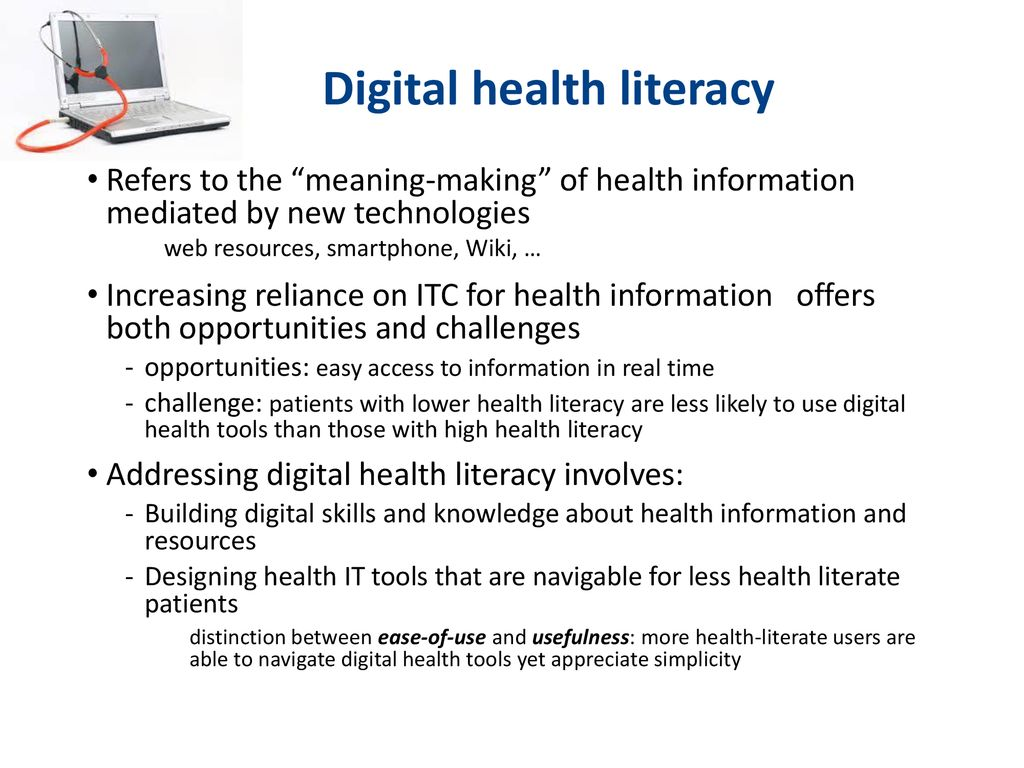 Digital Health Literacy: A brief overview of the IC-Health