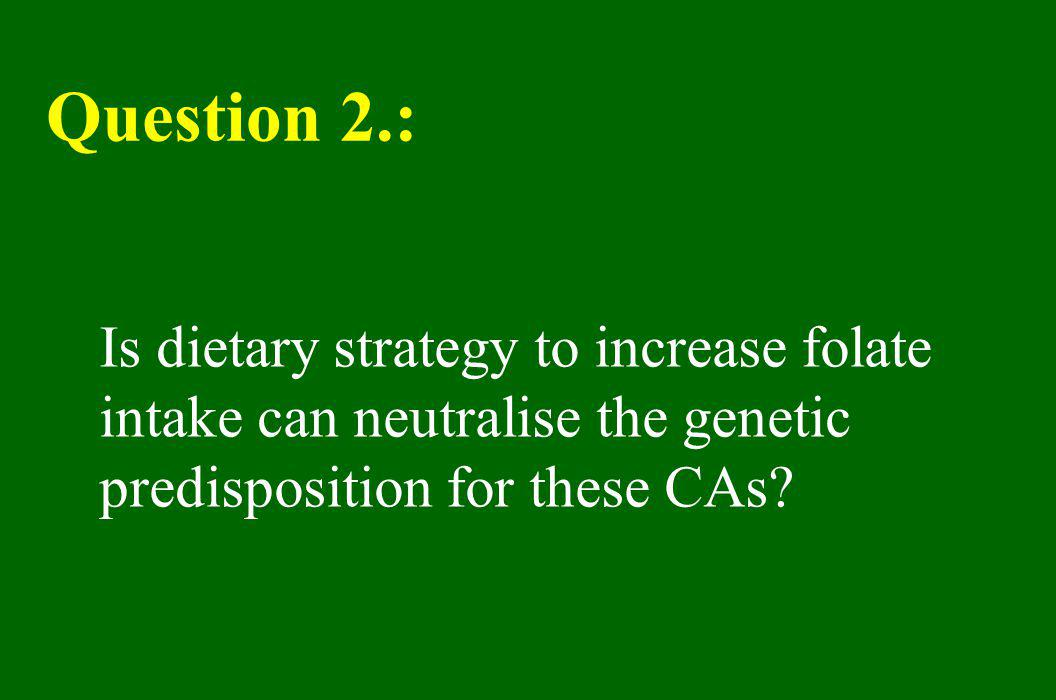 Question 2.: Is dietary strategy to increase folate