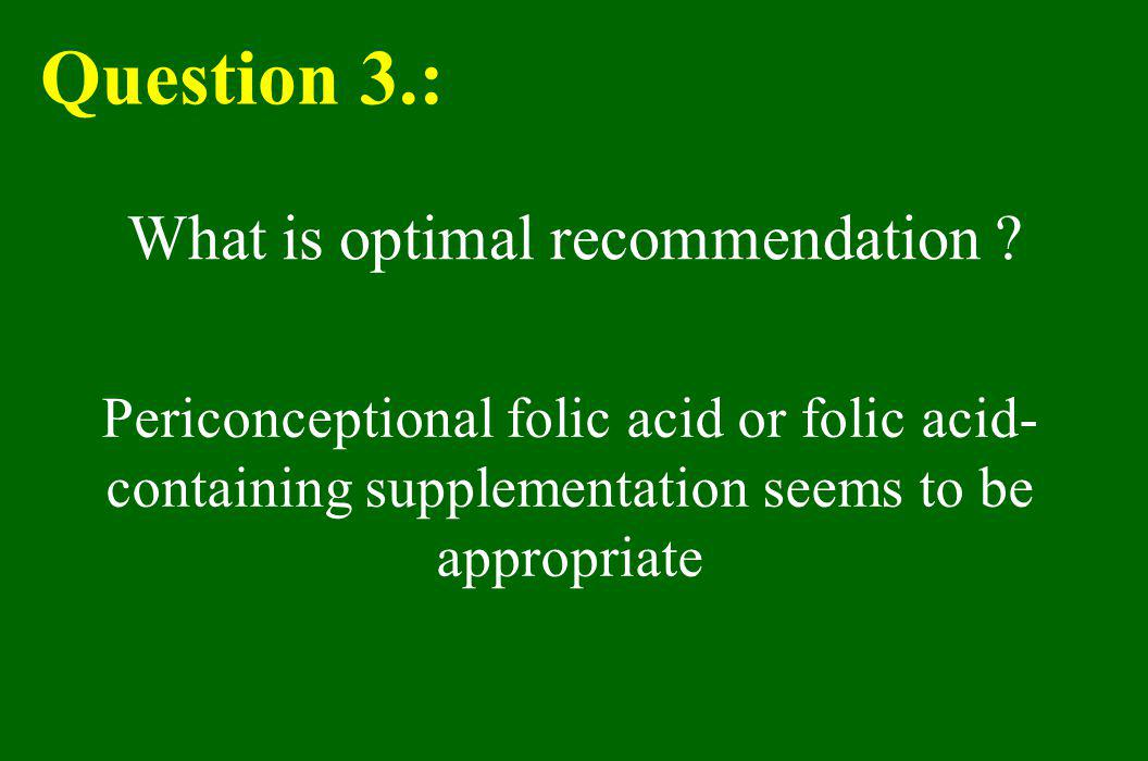 What is optimal recommendation