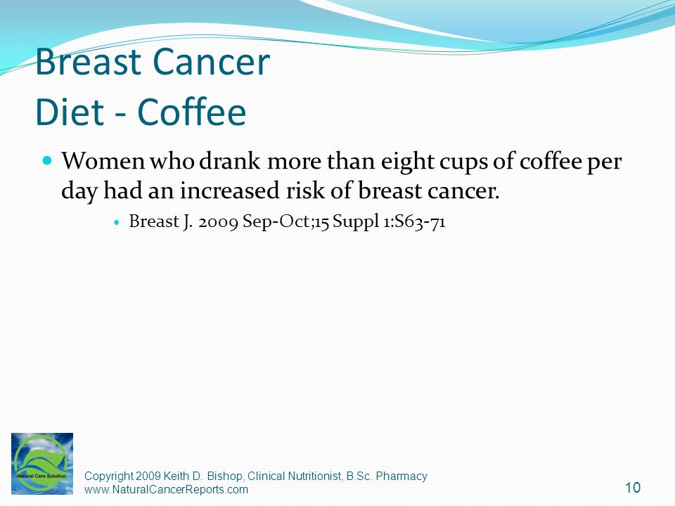 Breast Cancer Diet - Coffee