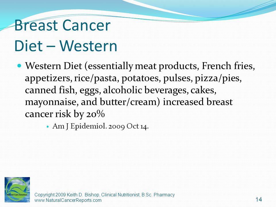 Breast Cancer Diet – Western