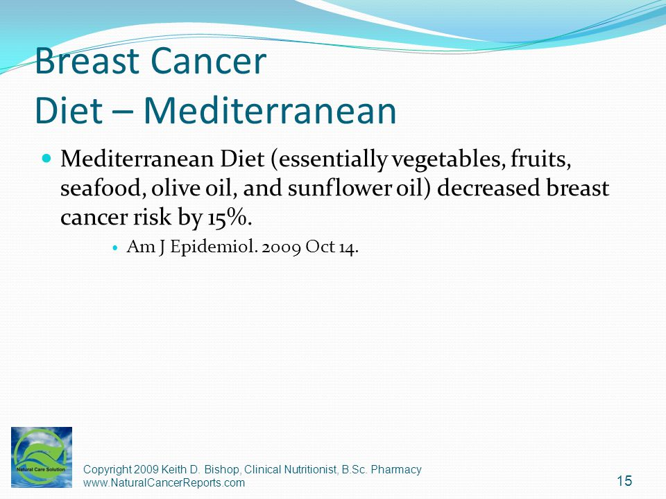 Breast Cancer Diet – Mediterranean