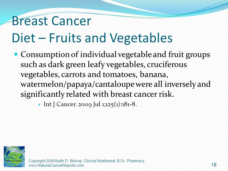 Breast Cancer Diet – Fruits and Vegetables