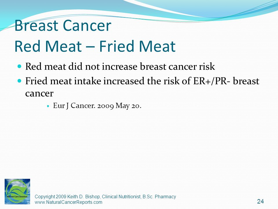 Breast Cancer Red Meat – Fried Meat
