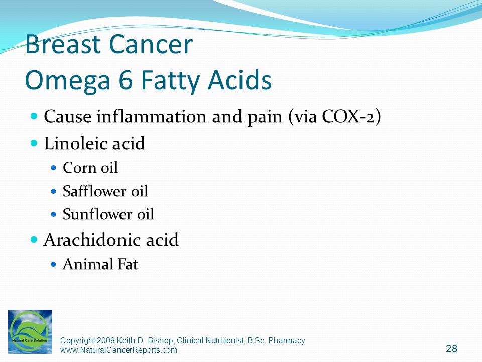 Breast Cancer Omega 6 Fatty Acids