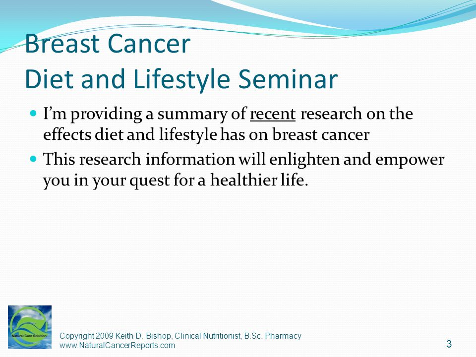 Breast Cancer Diet and Lifestyle Seminar