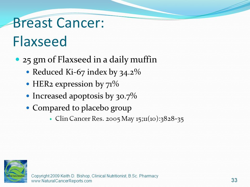 Breast Cancer: Flaxseed