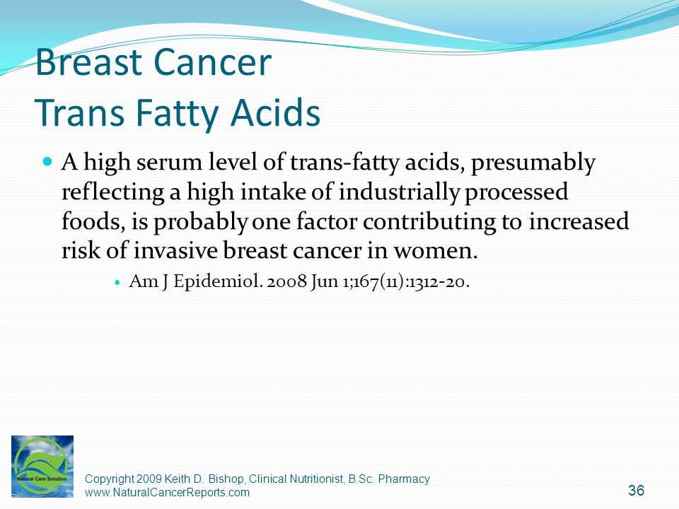 Breast Cancer Trans Fatty Acids
