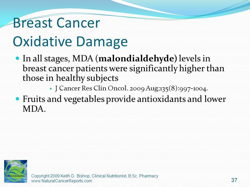 Breast Cancer Oxidative Damage