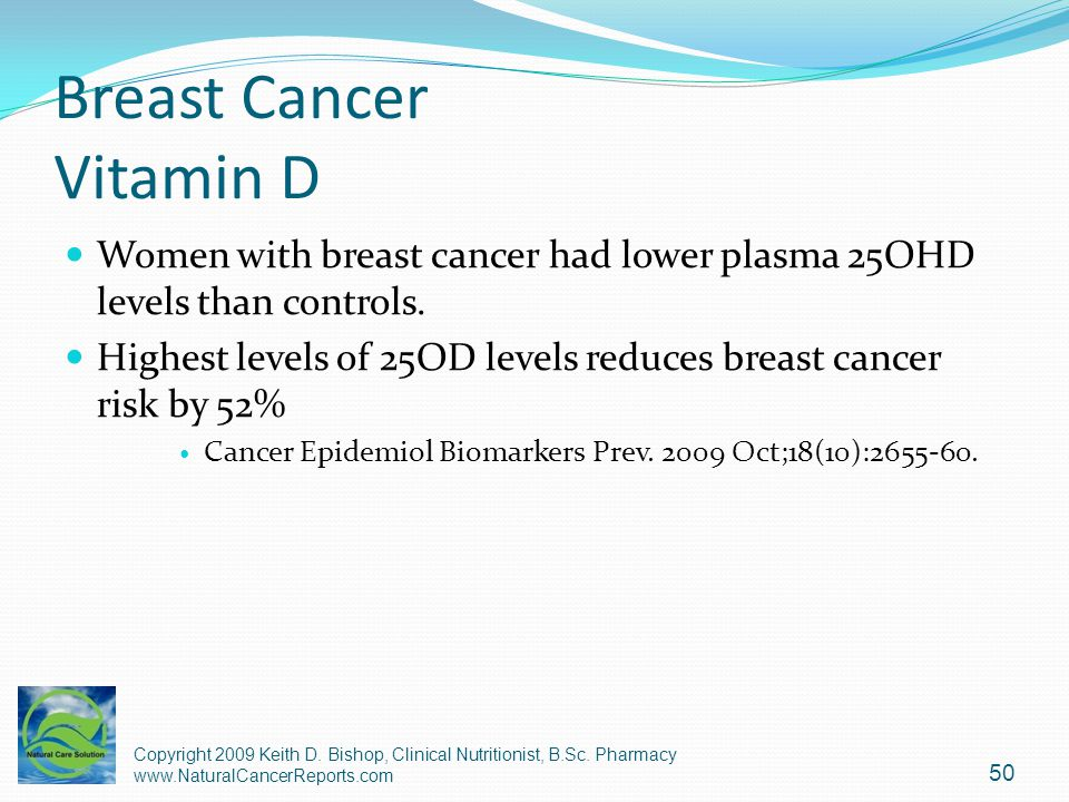 Breast Cancer Vitamin D