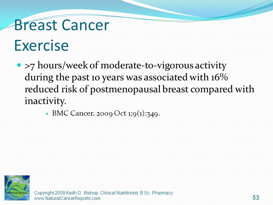 Breast Cancer Exercise