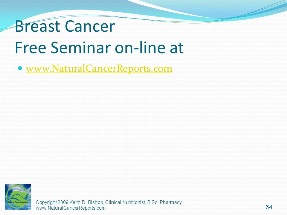 Breast Cancer Free Seminar on-line at