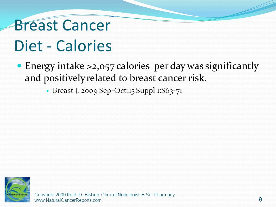 Breast Cancer Diet - Calories